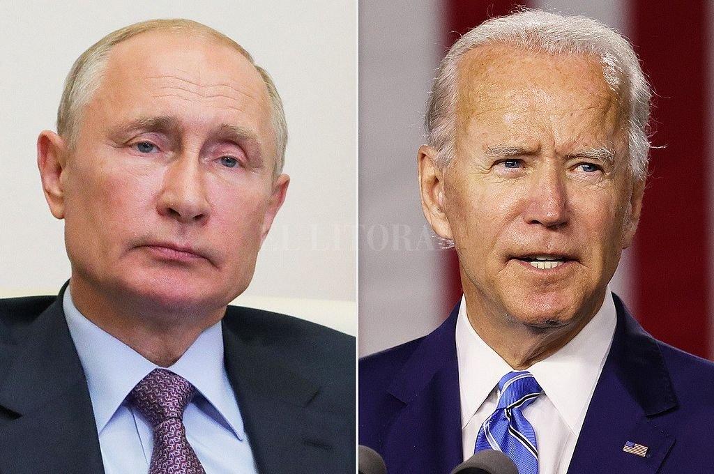 Putin y Biden. Crédito: Archivo El Litoral