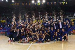 Con el argentino Bolmaro, Barcelona se consagró campeón del básquetbol de España
