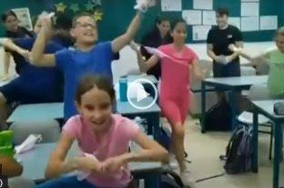 """Video: la reacción """"viral"""" de unos alumnos cuando se enteraron que ya no debían usar barbijos"""