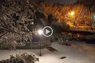 Video: histórica nevada en Córdoba -