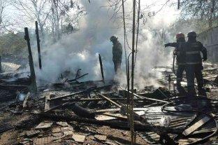Rosario: incendio total y grandes pérdidas en una casa de una zona rural