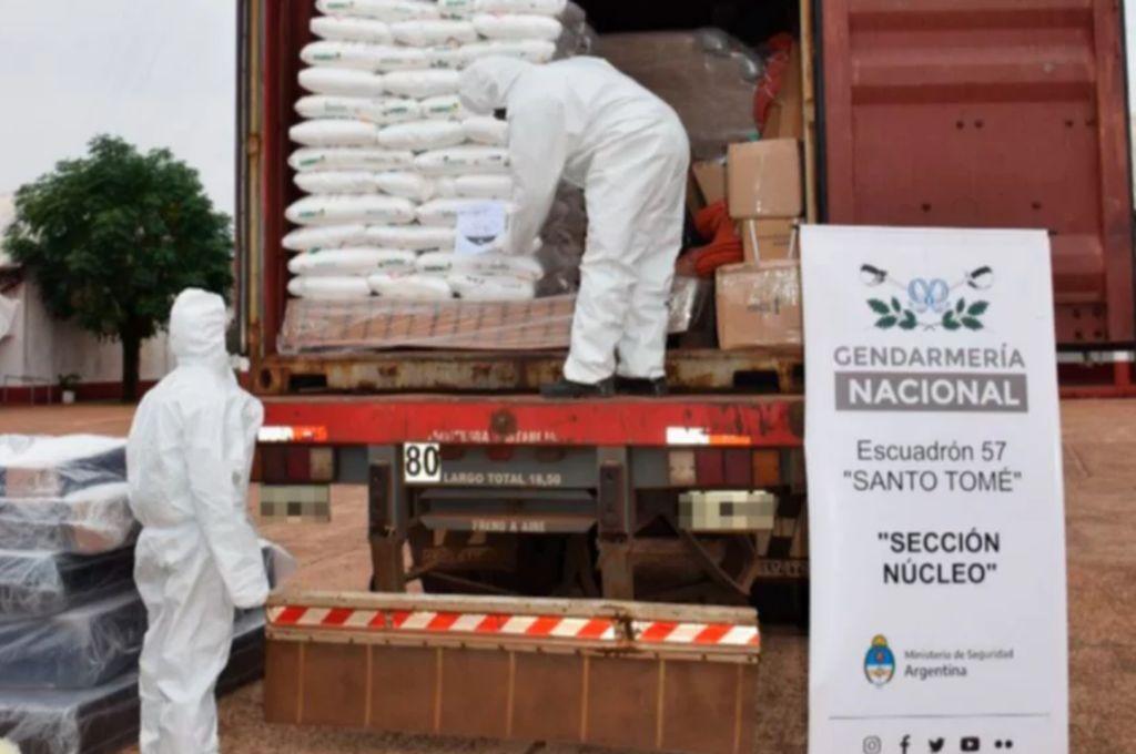 Corrientes: detuvieron un camión que trasladaba una tonelada y media de soda cáustica -  -