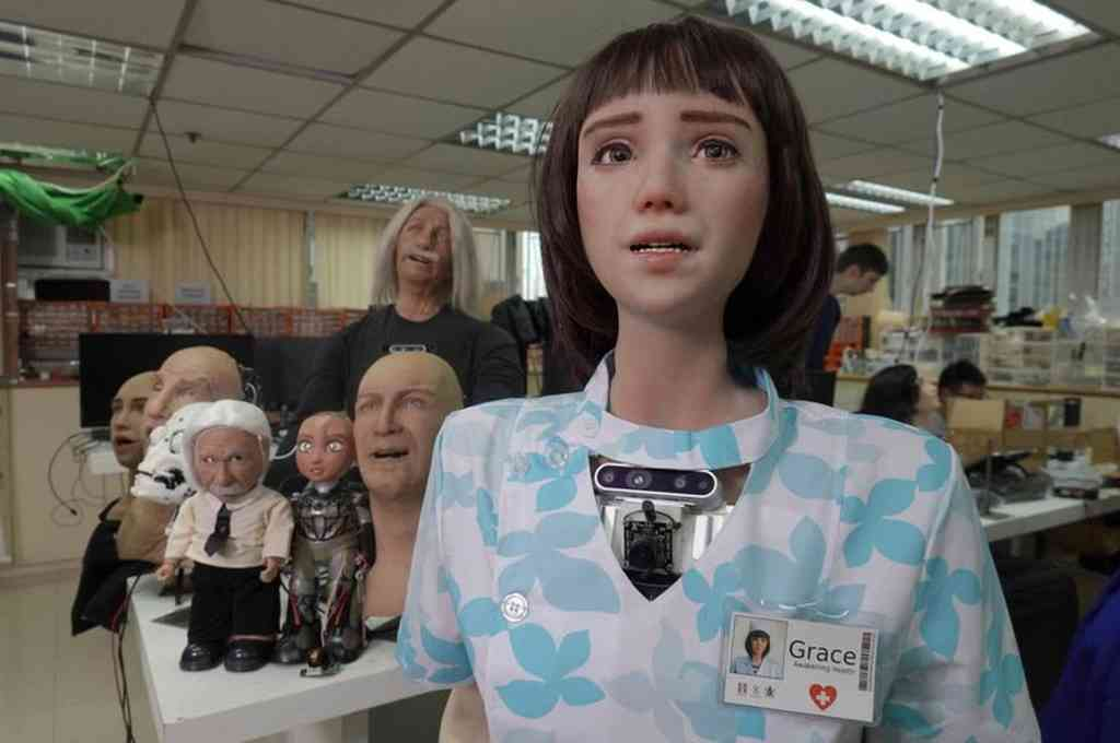 Grace, un nuevo robot humanoide, ha sido diseñado para interactuar con ancianos y aislados por la pandemia del coronavirus. Crédito: Imagen ilustrativa