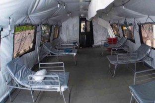 Uruguay instaló un hospital de campaña donado por EEUU como centro de acogida para migrantes