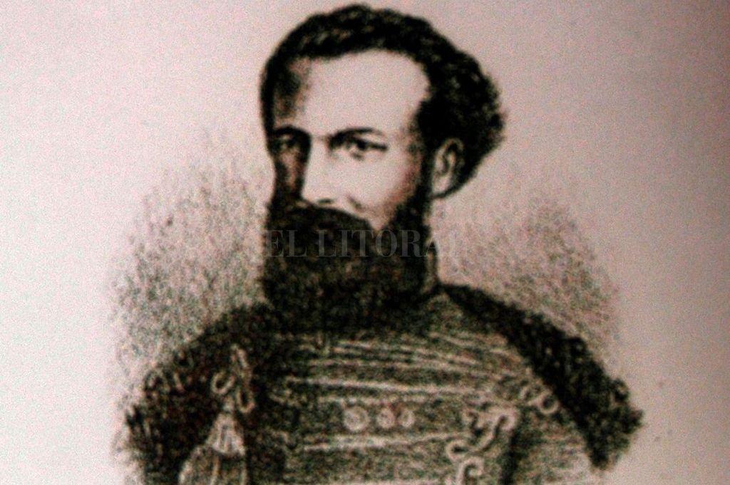 Primer grabado del rostro de Güemes que se incluyó en un folleto de Ángel Justiniano Carranza, editado en 1885 en Buenos Aires. Su imagen fue reconstruida en base a los rasgos de uno de sus descendientes. Crédito: Gentileza
