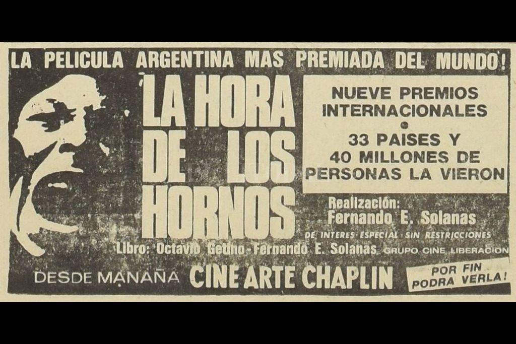 El recuerdo de la llegada a Santa Fe de una película emblemática - La Hora de los Hornos, es un film argentino realizado en 1968.