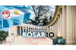 El club Olympiacos abre su academia de fútbol en Rosario