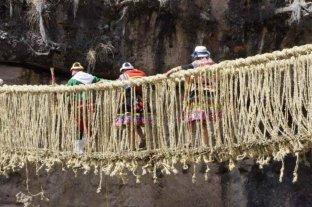 Restauraron el último puente colgante inca en Perú