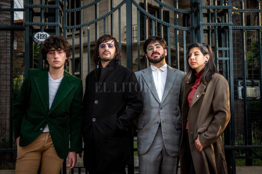 Cosentino, Botes, Paniccia y Pagnutti: el cuarteto que aprovechó el parate de la pandemia para empezar a trabajar en un nuevo set de canciones. Crédito: Gentileza producción