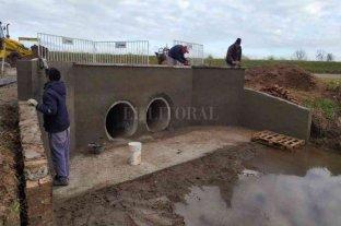 Franck: amplían obras en el reservorio sobre calle Saavedra