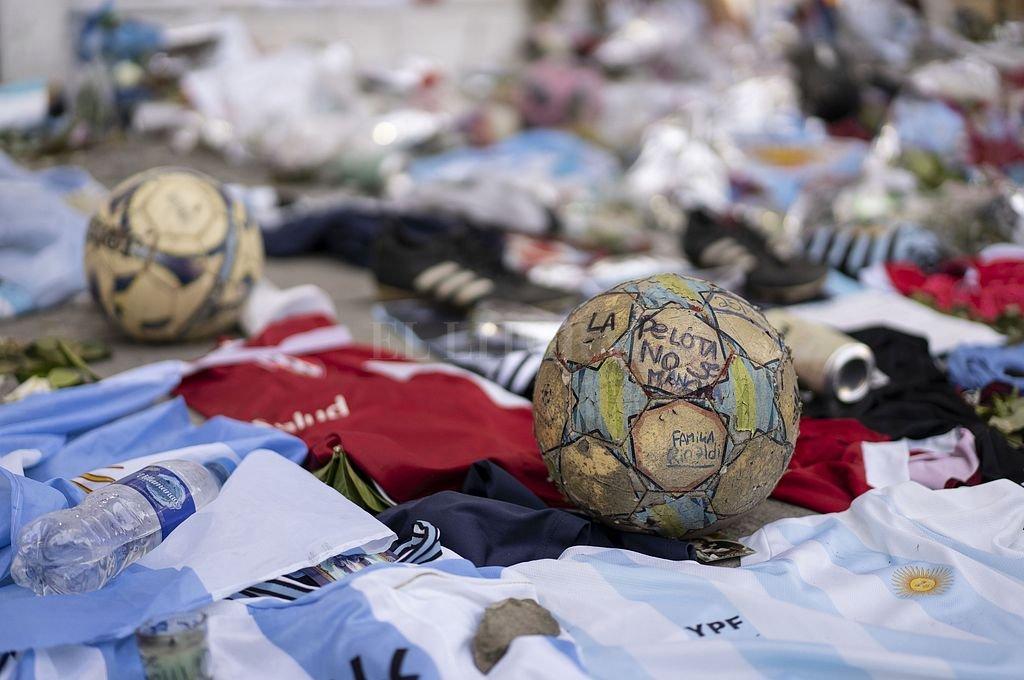 Homenaje a Maradona tras su fallecimiento. Crédito: Archivo El Litoral