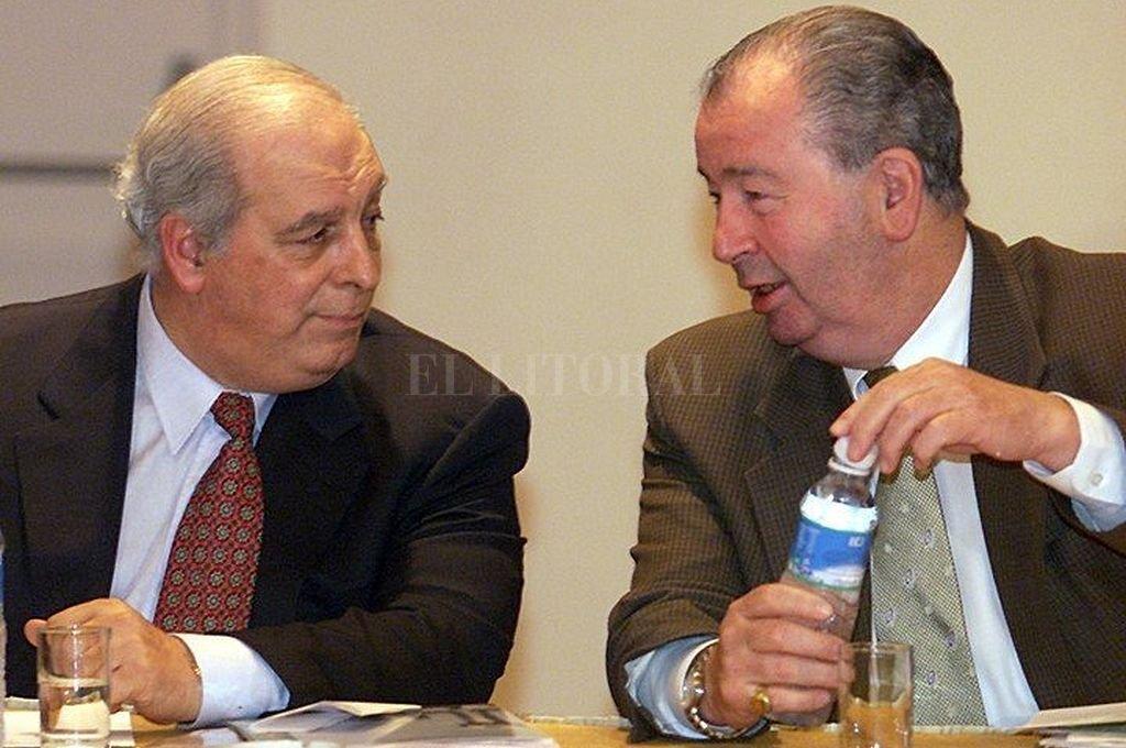 Eduardo De Luca y Julio Grondona. Crédito: Captura digital