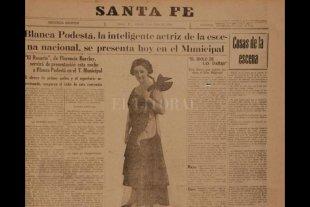 El invierno en que la actriz Blanca Podestá deleitó a los santafesinos