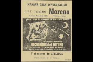 La inauguración de la sala cine-teatro Moreno - La sala contaba con una capacidad para 350 espectadores, sobre Marcial Candioti 3345, con equipos y tecnología de punta para esos años.