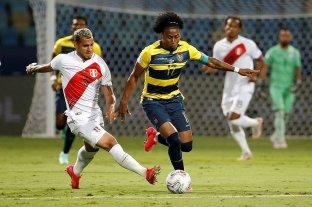 Perú reaccionó a tiempo y se lo empató a Ecuador