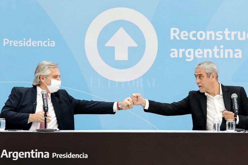 Alberto Fernández y Jorge Ferraresi. Crédito: Archivo El Litoral