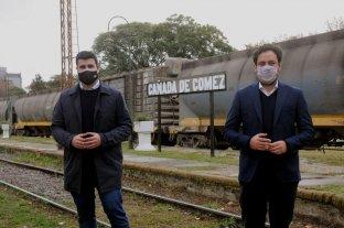 Marcos Cleri acompañó actos y recorridas sobre la vuelta de los trenes de cercanía en la provincia de Santa Fe