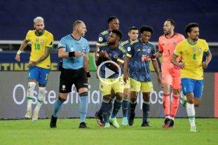 Video: se dio a conocer el audio del VAR de la polémica en Brasil vs Colombia