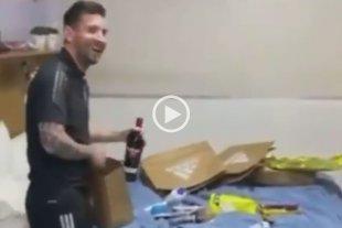 Video: la sorpresa de los jugadores para Messi en el día de su cumpleaños