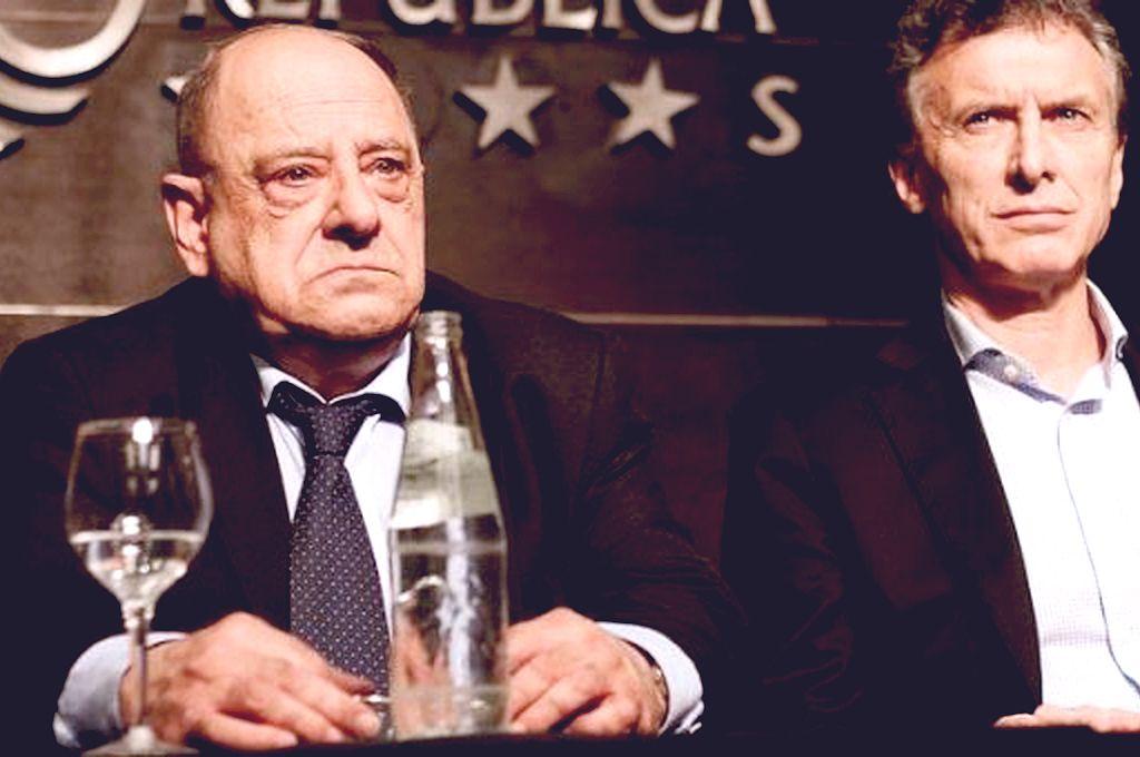Carlos Arroyo junto a Mauricio Macri. Crédito: Captura digital