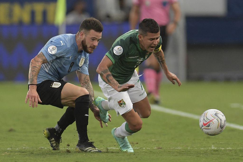 Uruguay derrotó a Bolivia y lo eliminó del torneo. Crédito: Gentileza