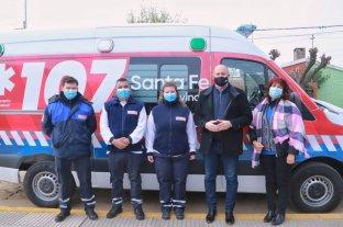Coronda, Gálvez y San Jorge recibieron ambulancias de alta complejidad