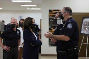 La vicepresidenta de Estados Unidos habló de la crisis migratoria desde la frontera con México