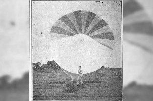 La historia del primer paracaidista argentino que sorprendió a los santafesinos