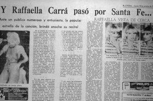 El día que Raffaella Carrà cantó en Santa Fe