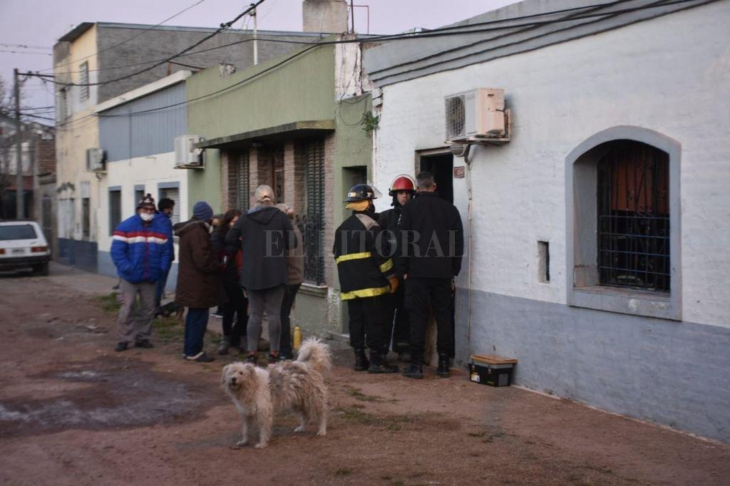 El domicilio donde sucedió el incendio. Crédito: Flavio Raina
