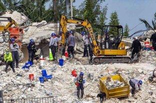Derrumbe en Miami: pidió ayuda durante 11 horas pero los rescatistas no lograron sacarla a tiempo