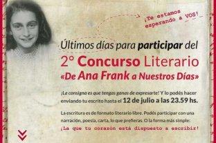 """Concurso Literario """"De Ana Frank a nuestros días"""": Espacios Educativos avanza con la propuesta en toda la provincia"""