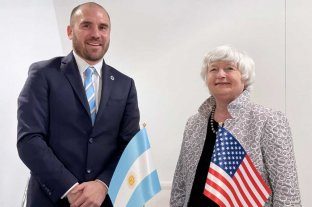Guzmán con la secretaria del Tesoro norteamericano