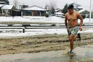 La foto viral que intriga a Bariloche: ¿atrapado in fraganti o víctima de un asalto?
