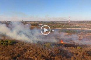 Video: así se ven las quemas en Santo Tomé desde el drone de El Litoral
