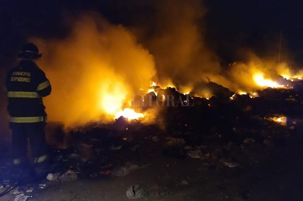 Algunas de las intervenciones realizadas por incendios en pastizales, residuos y basurales. Crédito: El Litoral