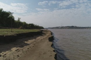 El río Paraná continúa bajando en Entre Ríos