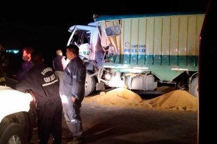 Choque de camiones  en Marcelino Escalada dejó un herido