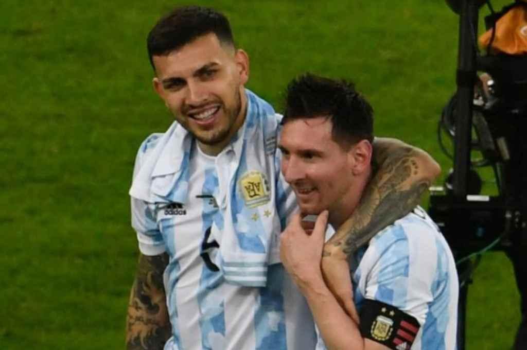 Paredes y Messi, dos pilares del equipo de Scaloni que ganó la Copa América en Brasil.    Crédito: Gentileza