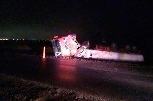 Volcó un camión en el oeste santafesino