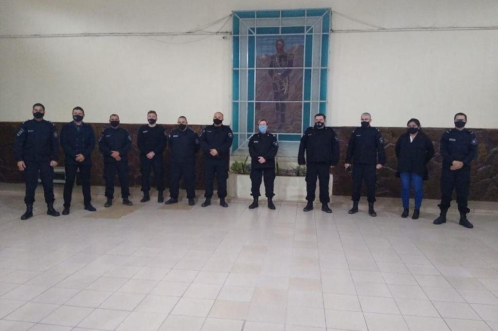 Un momento de la visita efectuada por la Directora General de la Policía, Emilce Chimenti. Crédito: El Litoral