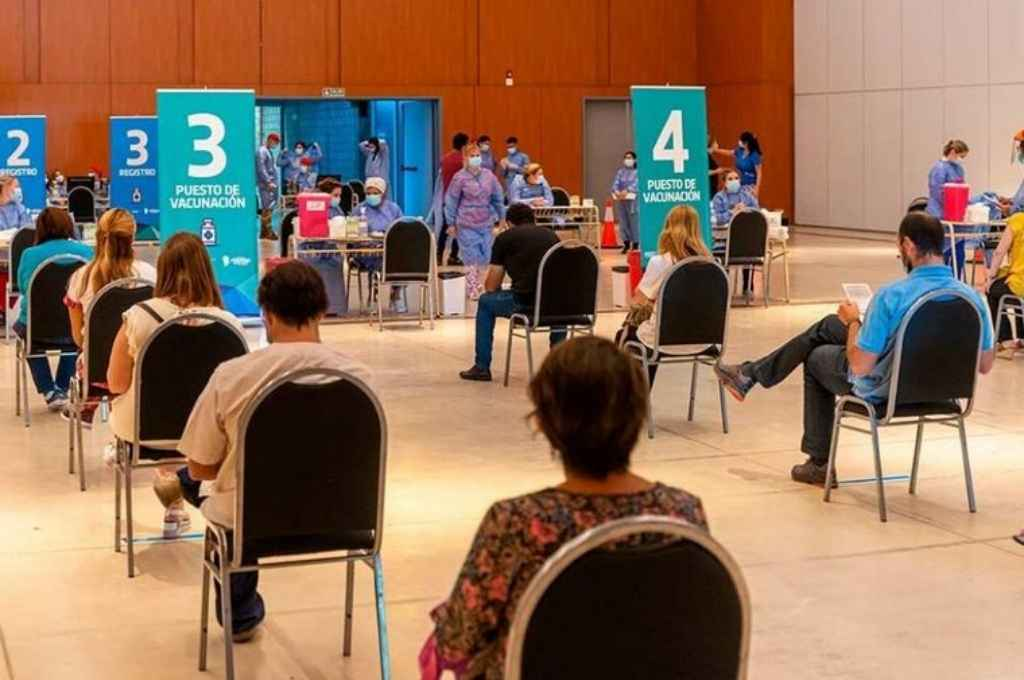 Centro de vacunación en Córdoba. Crédito: Gentileza
