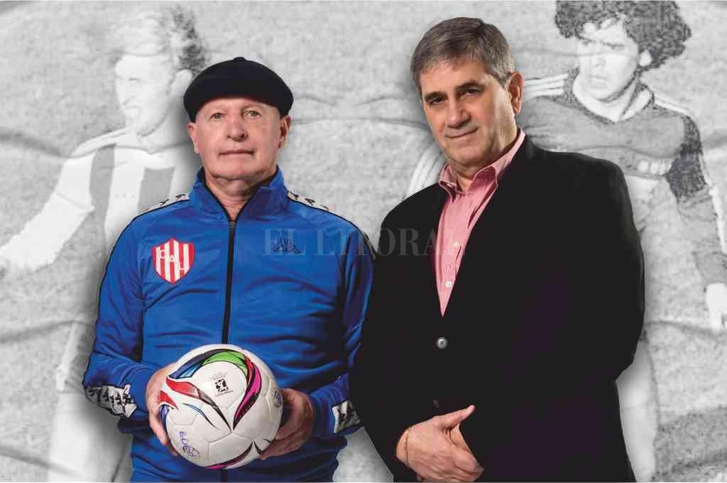 Oscar Sabino Regenhardt junto a Carlos Ghisolfo, principal referente de Glorioso ´89. Crédito: Gentileza