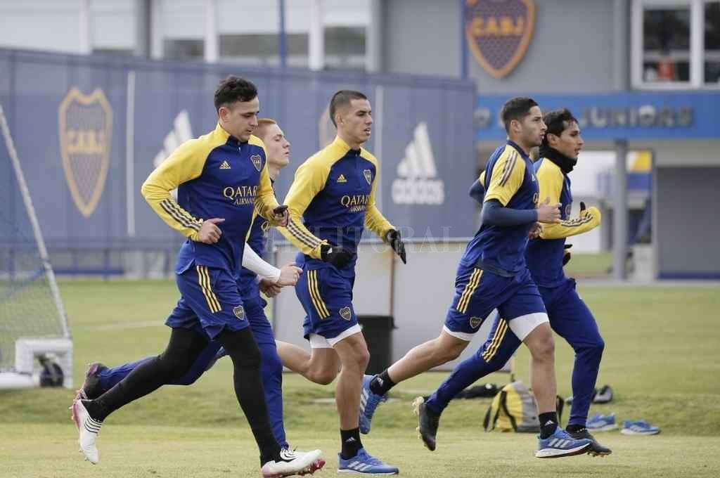 El plantel de Boca retomó los entrenamientos pensando en el partido contra Unión. Crédito: Gentileza @BocaJrsOficial