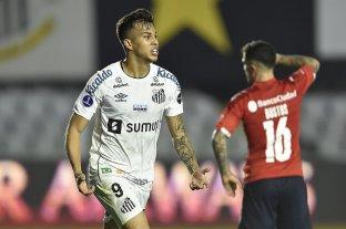 Independiente perdió con Santos por la ida de los octavos de final de la Copa Sudamericana