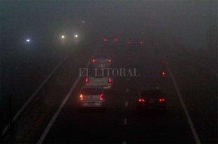 La niebla vuelve a complicar la visibilidad en rutas en Santa Fe