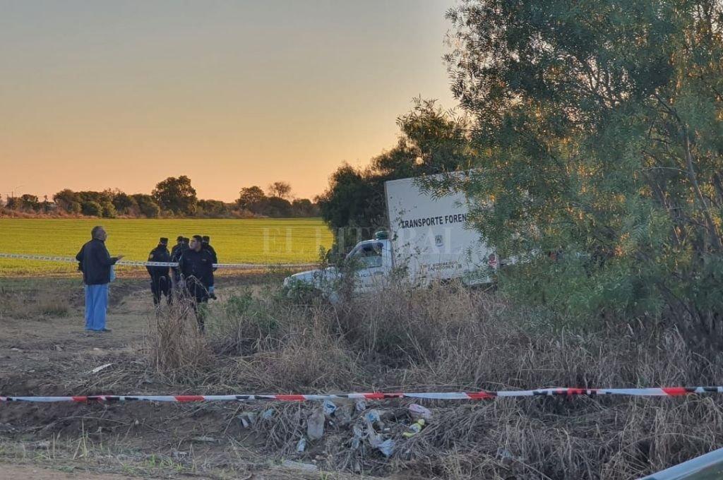 Sitio donde fue hallado el cuerpo. Crédito: Archivo El Litoral