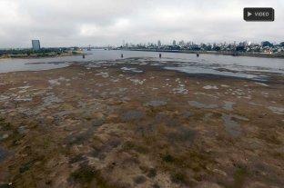 Poca agua y niebla: así se ve la Laguna Setúbal desde el drone de El Litoral