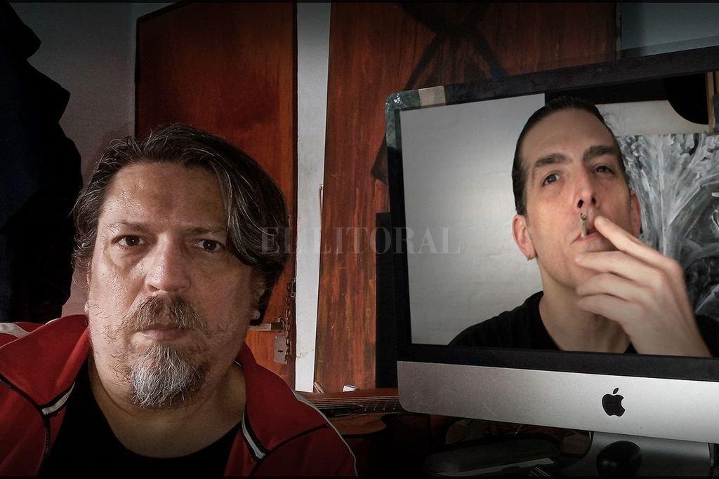 Ianniello y Adrián Steinsleger, unidos por la pantalla desde antes de la pandemia. Crédito: Gentileza producción