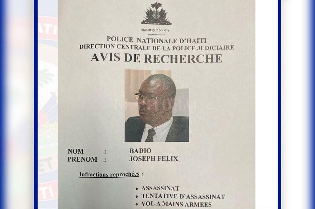 Aviso de la Policía de Haití. Crédito: Captura digital